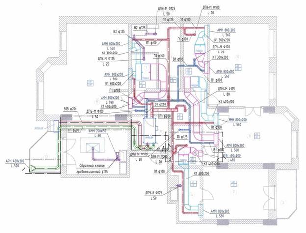 Монтаж бытовой вентиляции